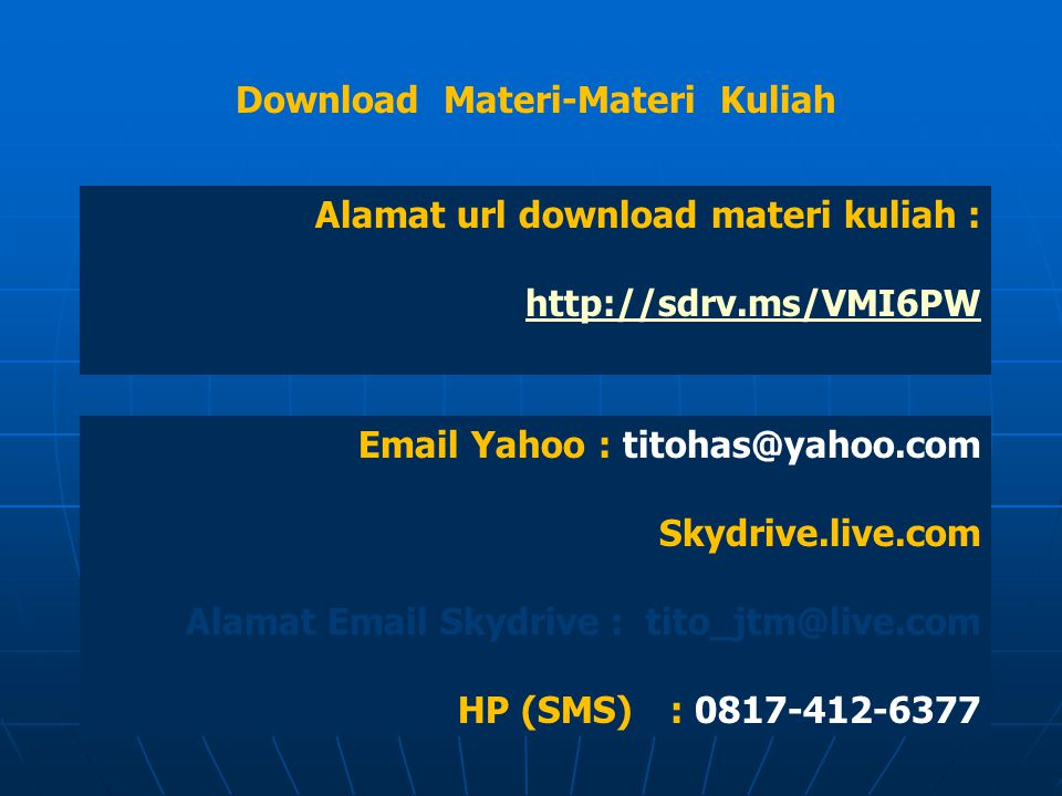 Download Materi-Materi Kuliah