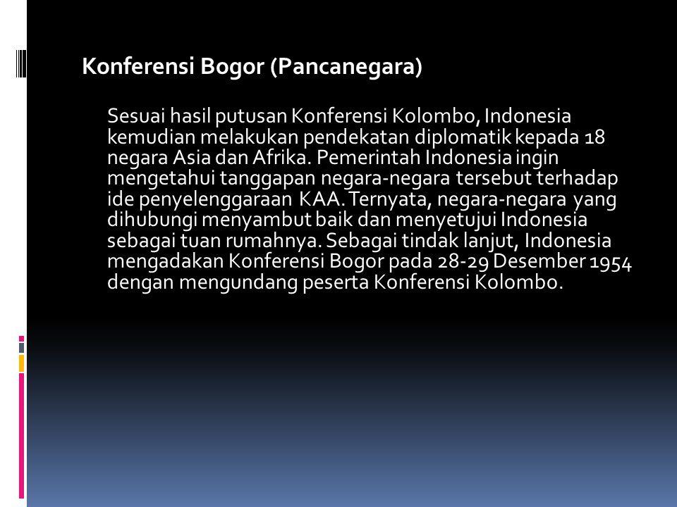 Konferensi Bogor (Pancanegara)
