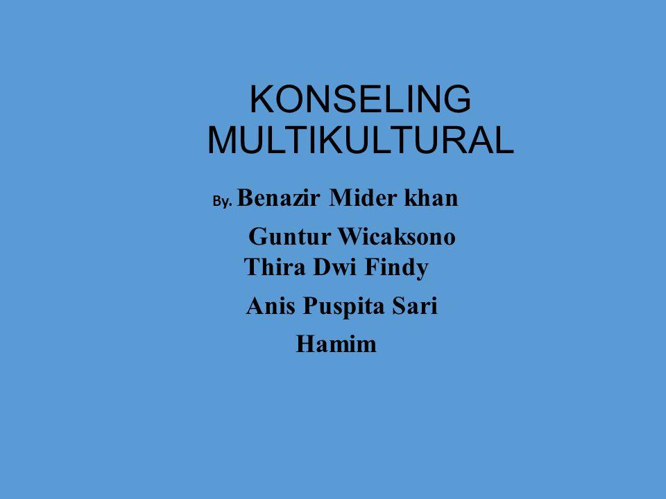 KONSELING MULTIKULTURAL