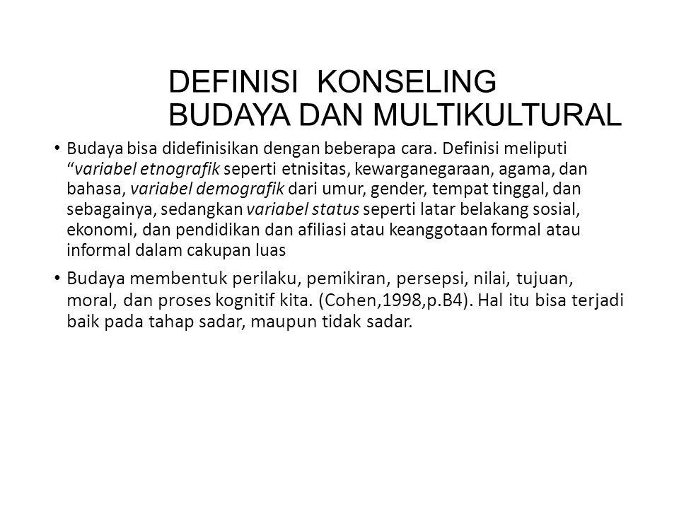 DEFINISI KONSELING BUDAYA DAN MULTIKULTURAL