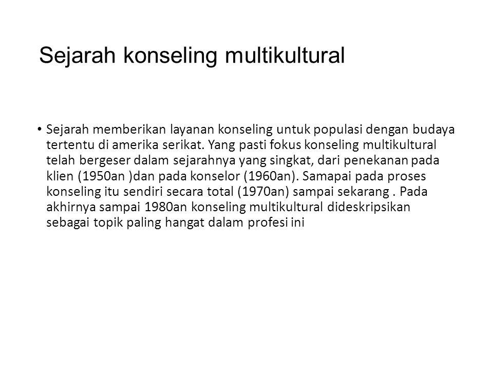 Sejarah konseling multikultural