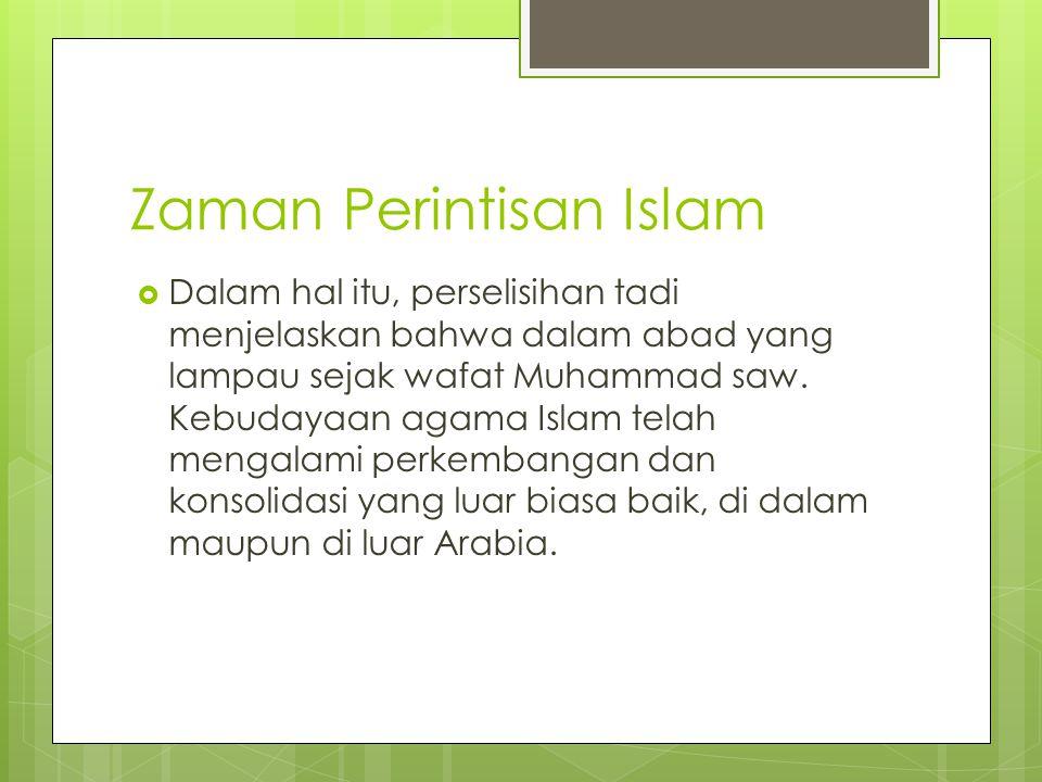 Zaman Perintisan Islam