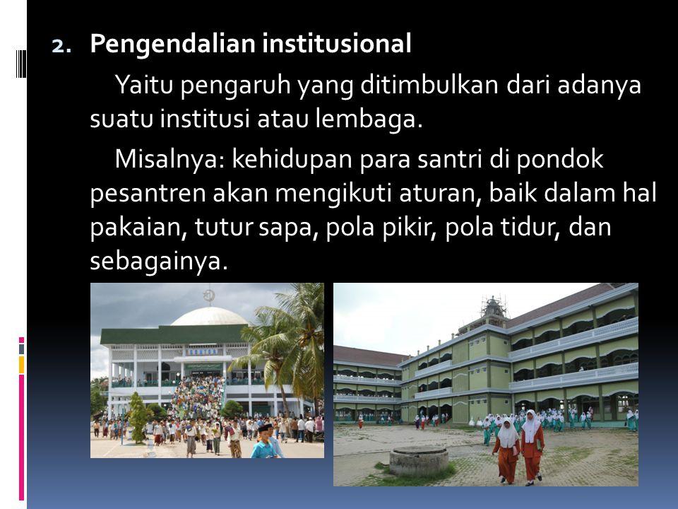 Pengendalian institusional