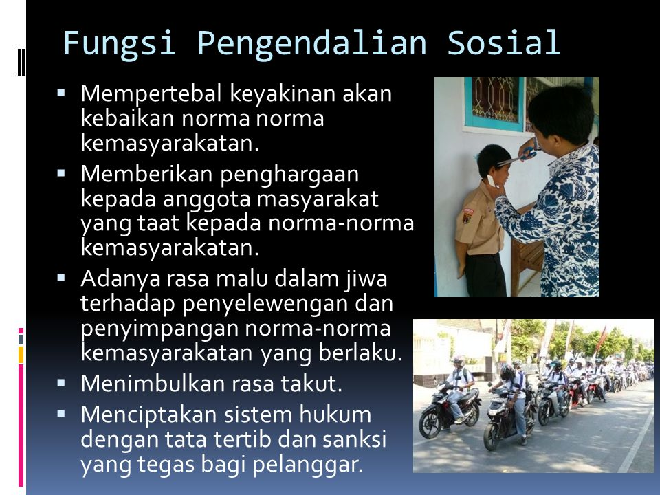Fungsi Pengendalian Sosial