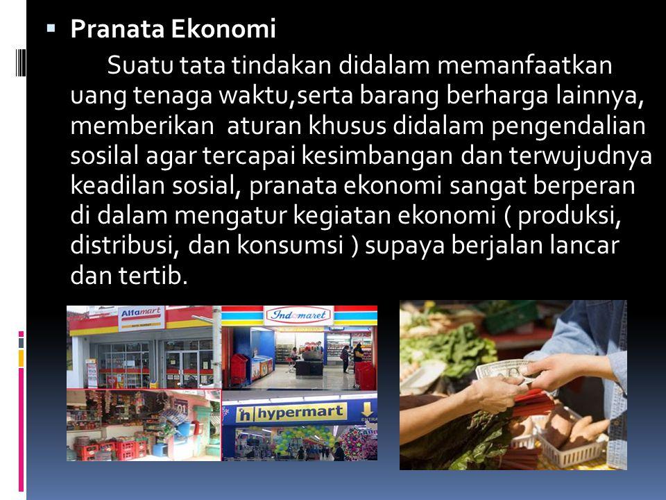 Pranata Ekonomi