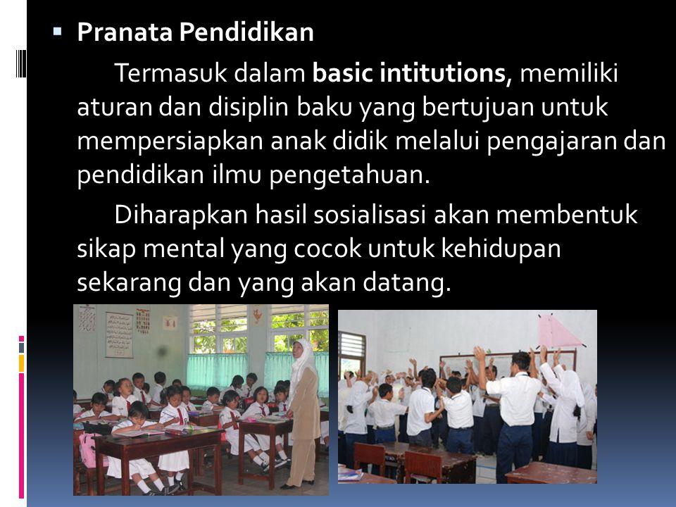 Pranata Pendidikan