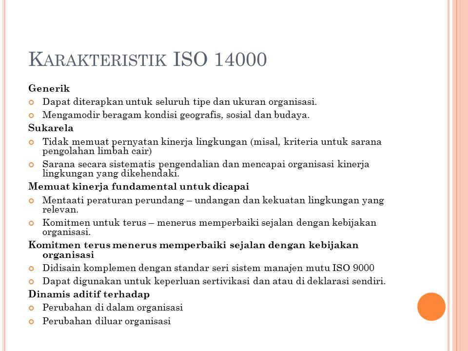 Karakteristik ISO 14000 Generik