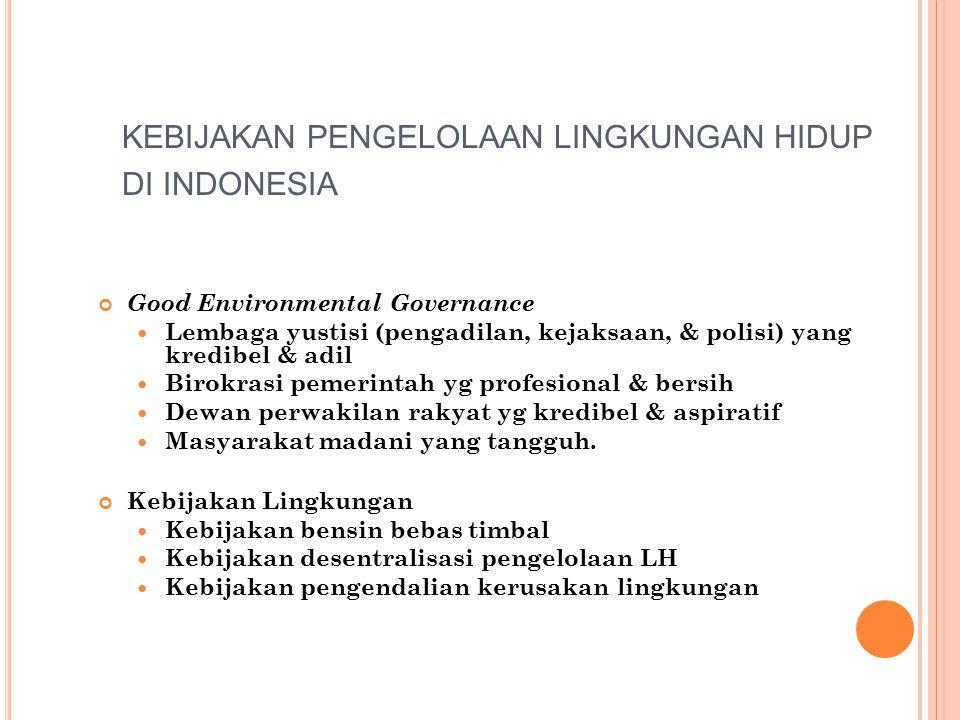 KEBIJAKAN PENGELOLAAN LINGKUNGAN HIDUP DI INDONESIA