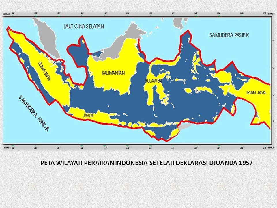 PETA WILAYAH PERAIRAN INDONESIA SETELAH DEKLARASI DJUANDA 1957