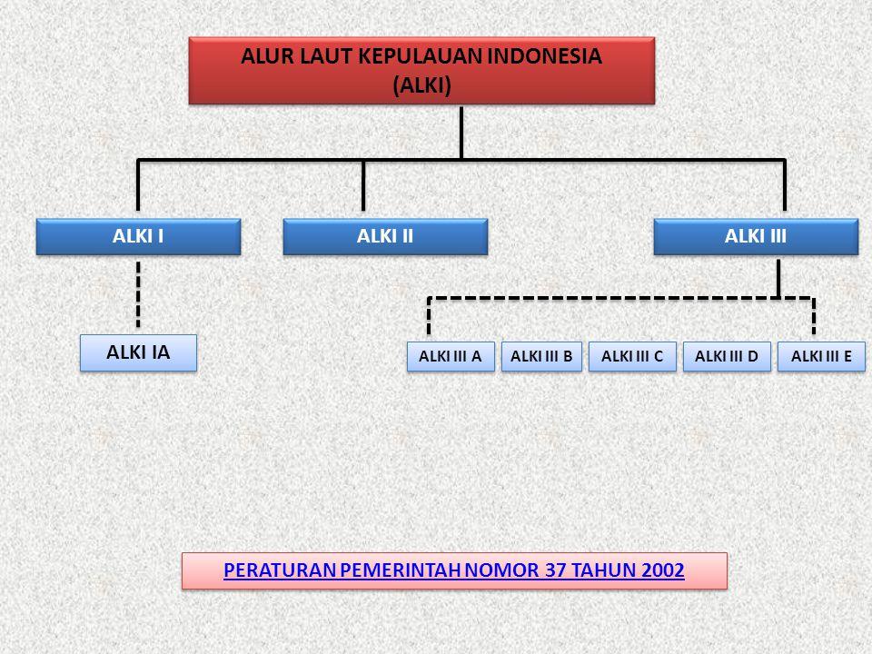 ALUR LAUT KEPULAUAN INDONESIA PERATURAN PEMERINTAH NOMOR 37 TAHUN 2002