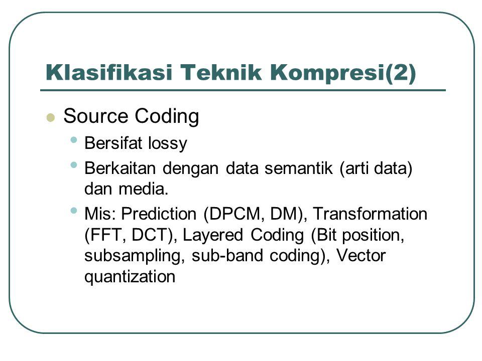 Klasifikasi Teknik Kompresi(2)