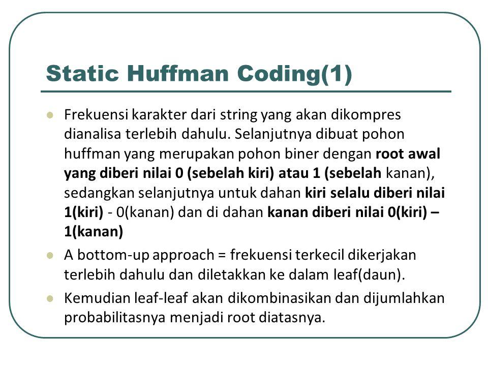 Static Huffman Coding(1)