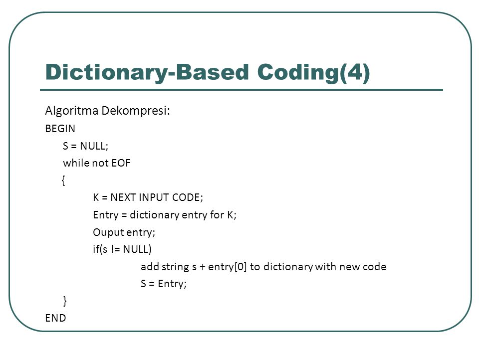 Dictionary-Based Coding(4)