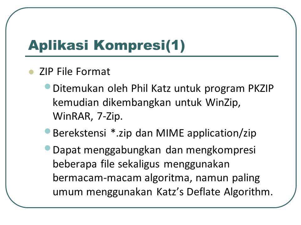 Aplikasi Kompresi(1) ZIP File Format