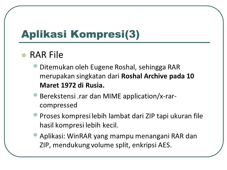 Aplikasi Kompresi(3) RAR File