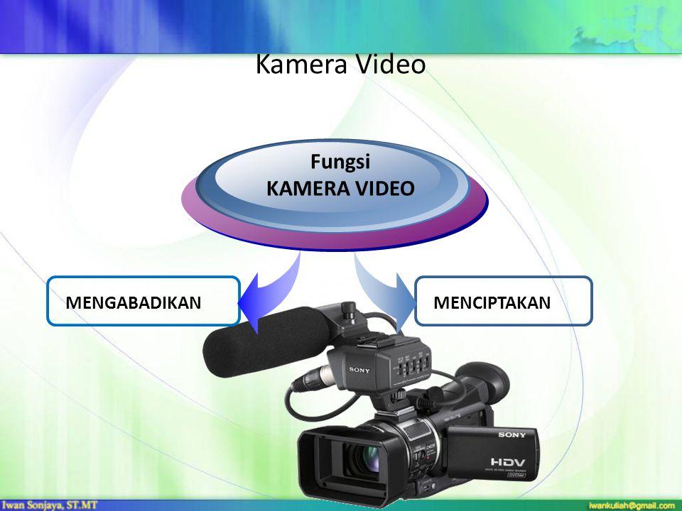 Kamera Video Fungsi KAMERA VIDEO MENGABADIKAN MENCIPTAKAN