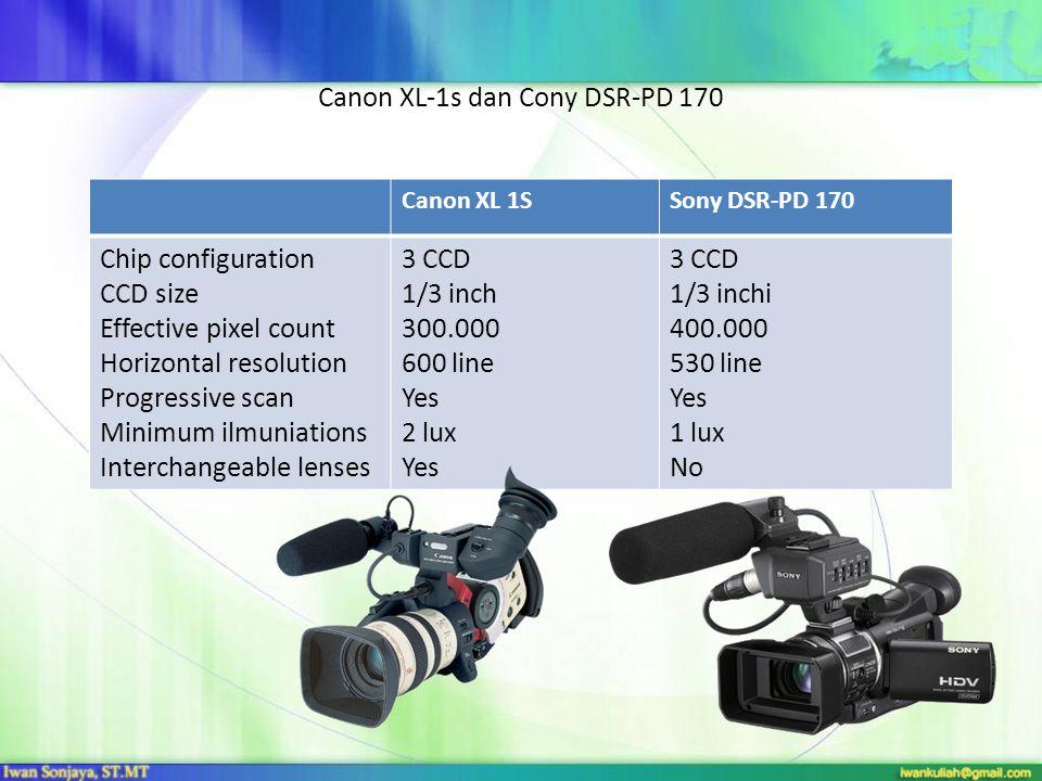 Canon XL-1s dan Cony DSR-PD 170