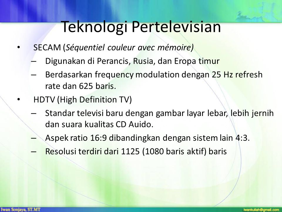 Teknologi Pertelevisian