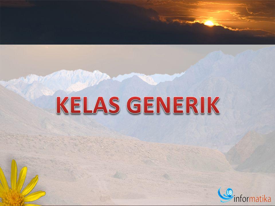 KELAS GENERIK
