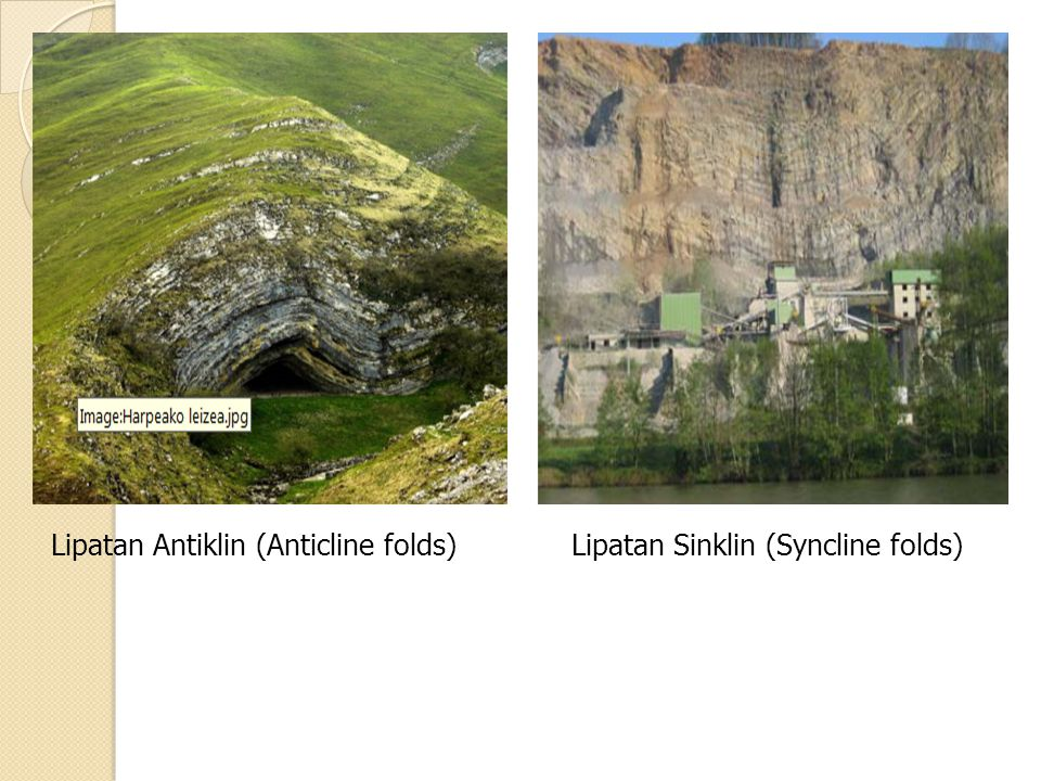 Lipatan Antiklin (Anticline folds)