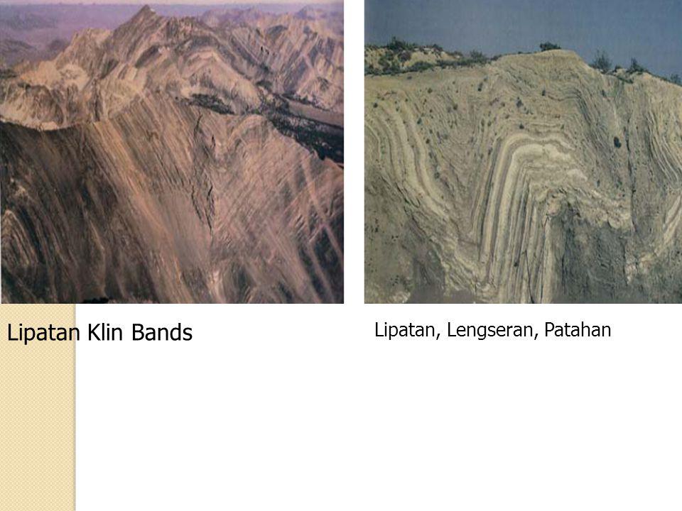Lipatan Klin Bands Lipatan, Lengseran, Patahan