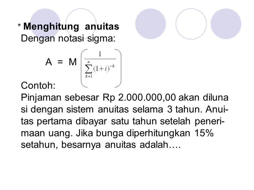 Pinjaman sebesar Rp 2.000.000,00 akan diluna