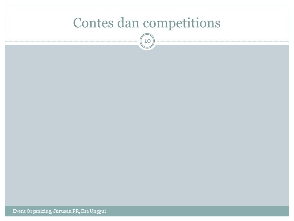 Contes dan competitions