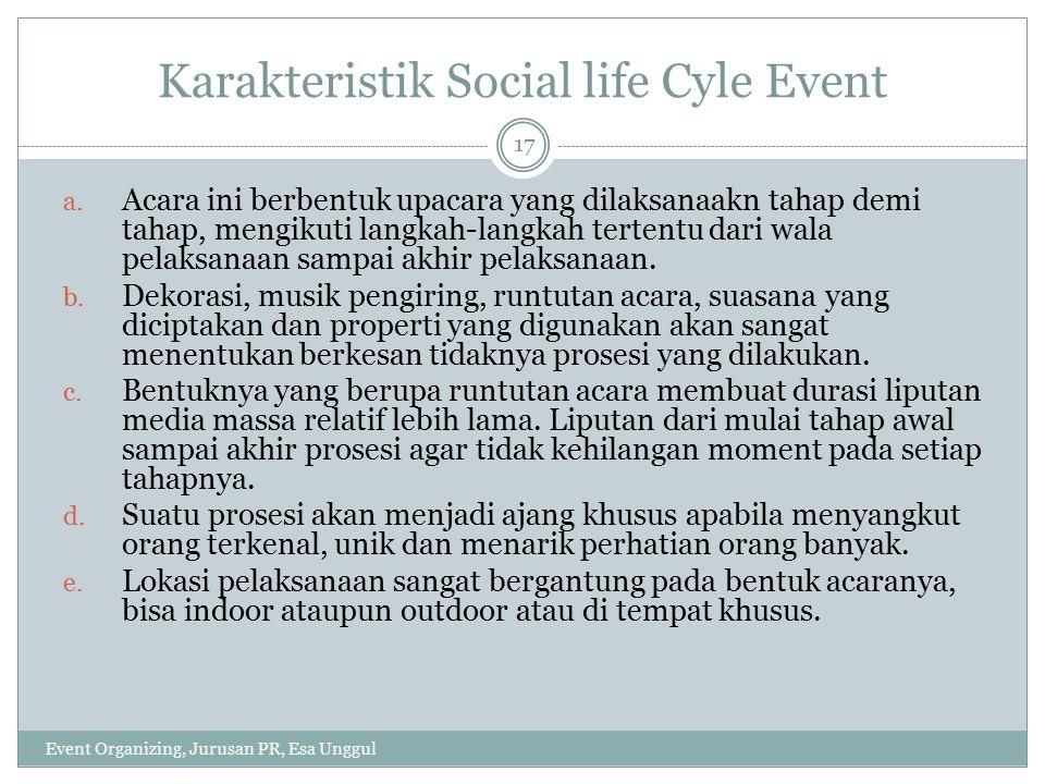 Karakteristik Social life Cyle Event
