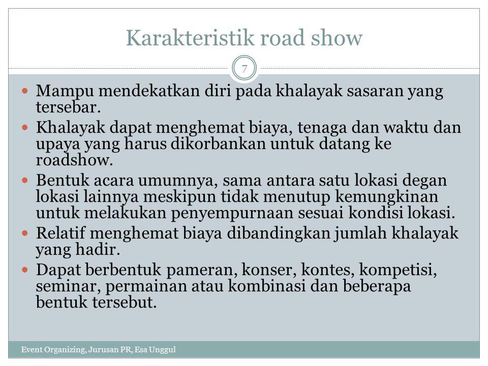Karakteristik road show