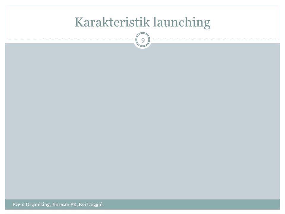 Karakteristik launching