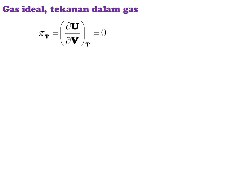 Gas ideal, tekanan dalam gas