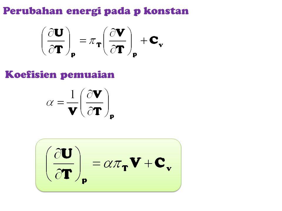 Perubahan energi pada p konstan