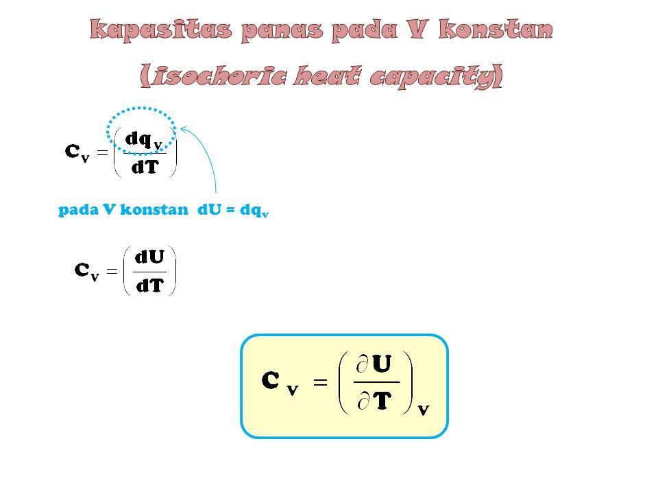 kapasitas panas pada V konstan (isochoric heat capacity)