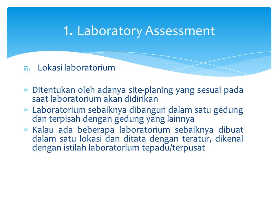 1. Laboratory Assessment