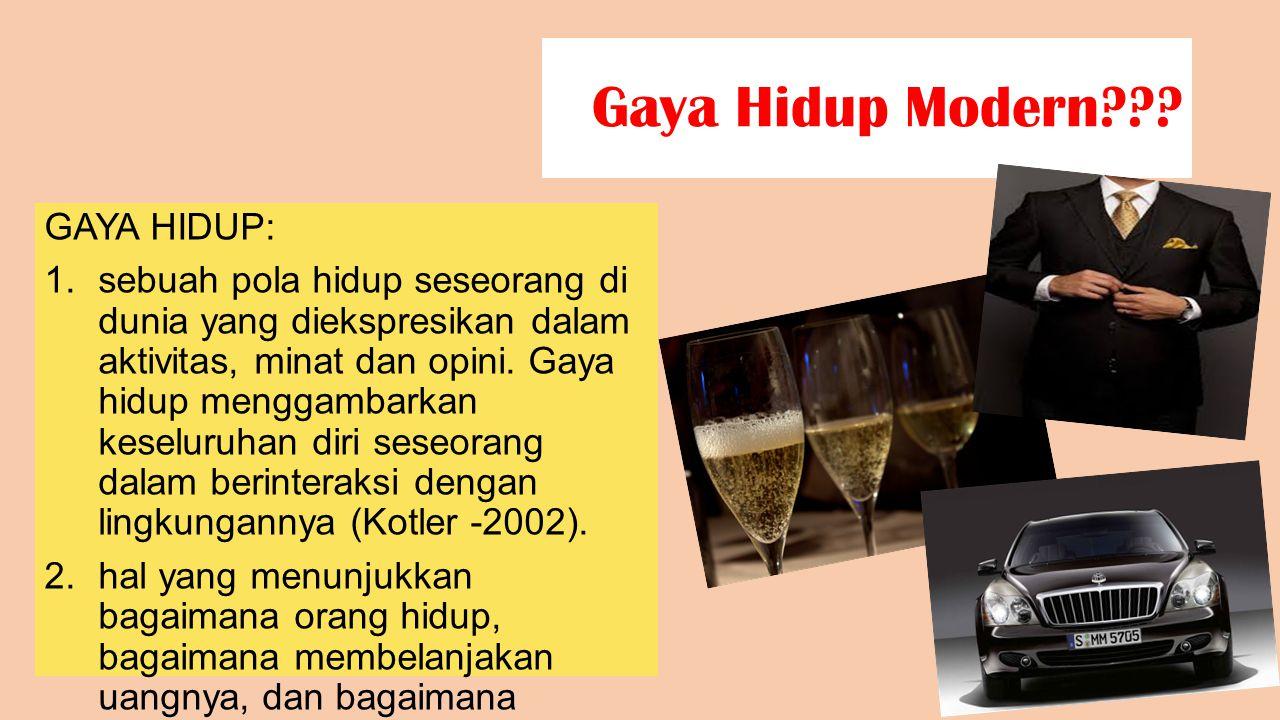 Gaya Hidup Modern GAYA HIDUP: