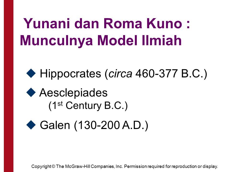 Yunani dan Roma Kuno : Munculnya Model Ilmiah