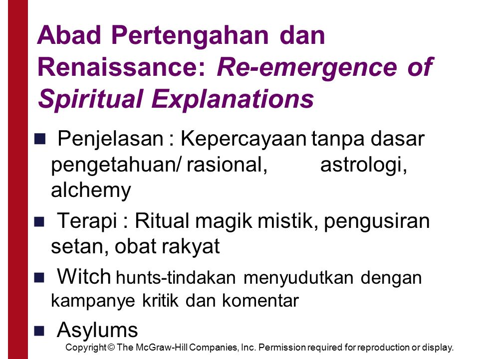 Abad Pertengahan dan Renaissance: Re-emergence of Spiritual Explanations