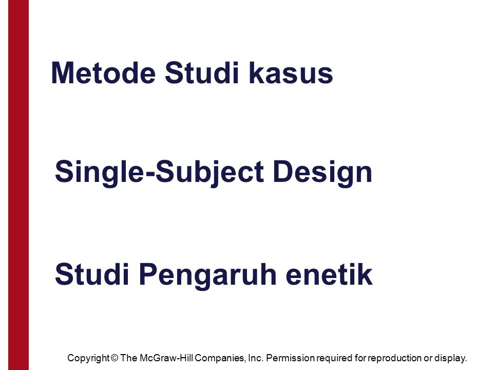 Single-Subject Design