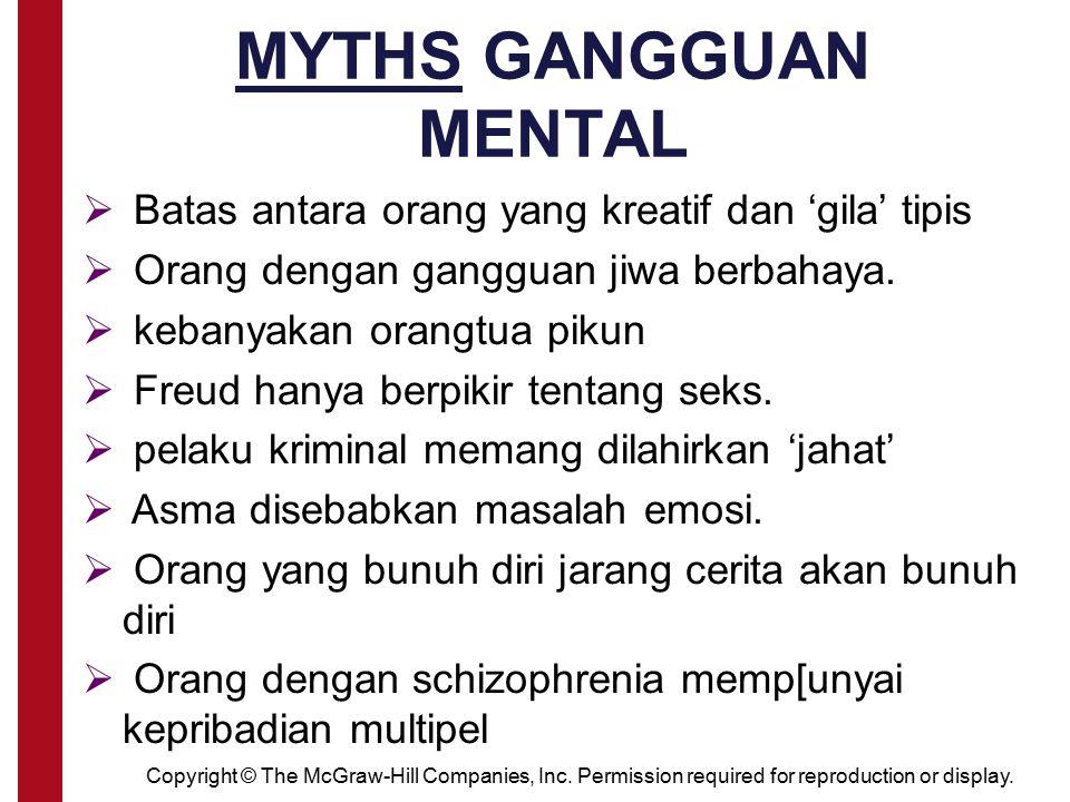 MYTHS GANGGUAN MENTAL Batas antara orang yang kreatif dan 'gila' tipis
