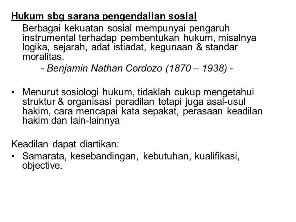 Hukum sbg sarana pengendalian sosial