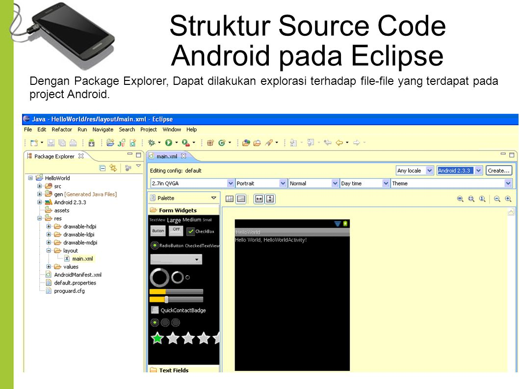 Struktur Source Code Android pada Eclipse