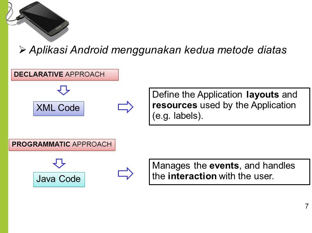 Aplikasi Android menggunakan kedua metode diatas