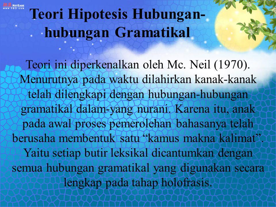 Teori Hipotesis Hubungan-hubungan Gramatikal