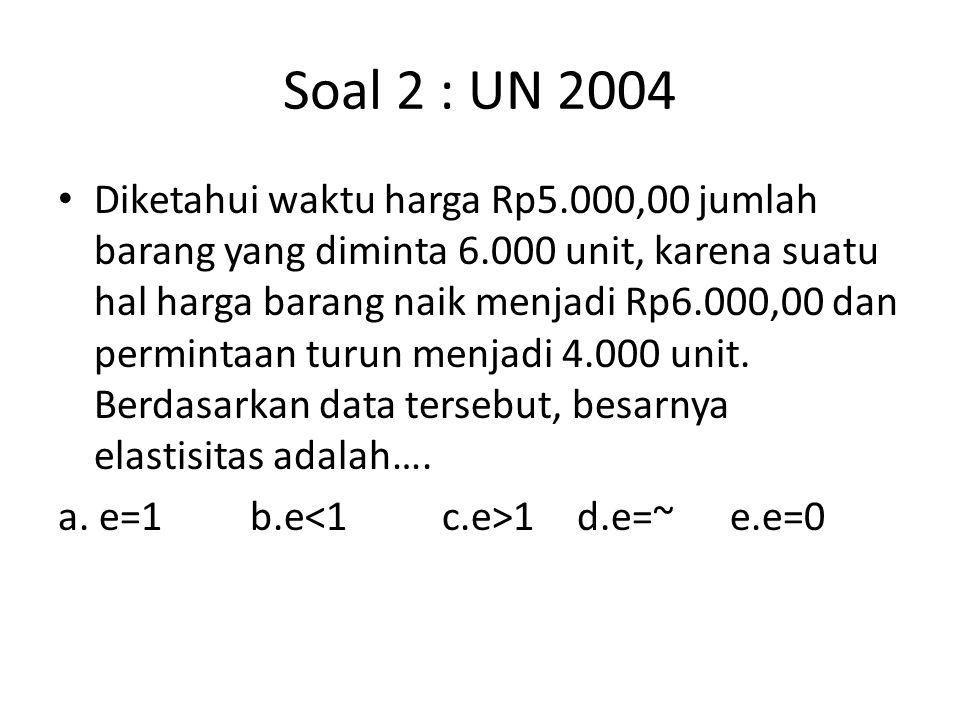 Soal 2 : UN 2004