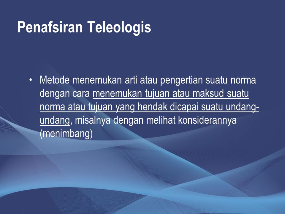 Penafsiran Teleologis