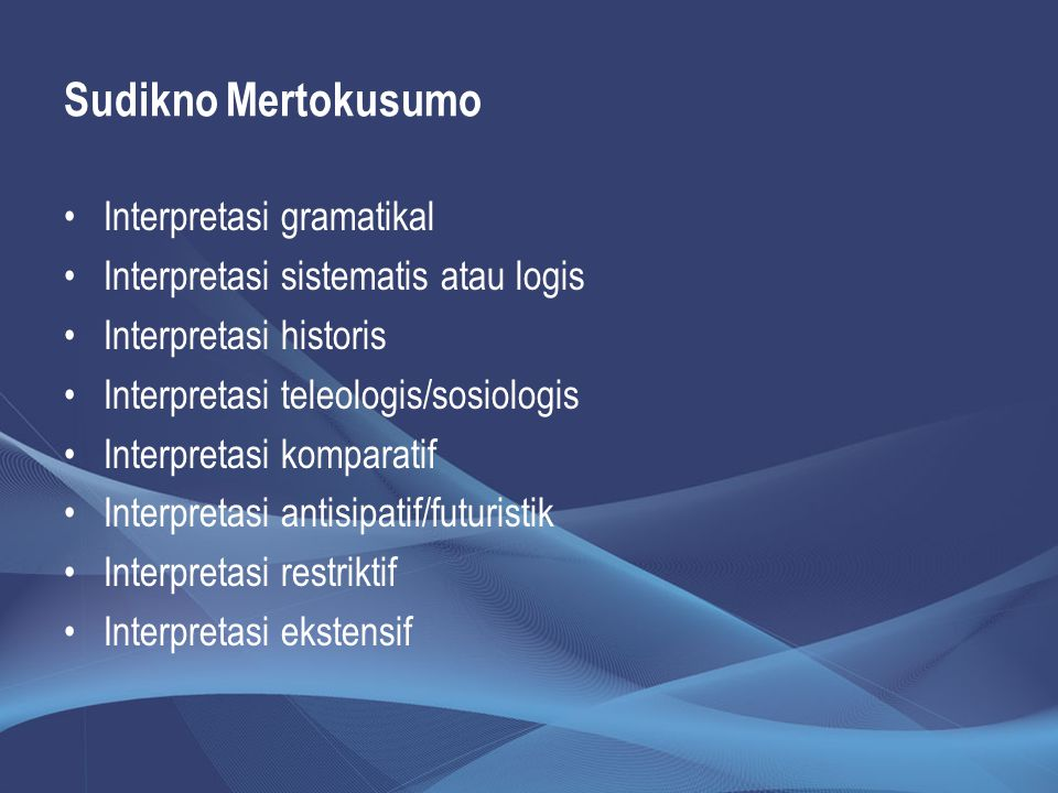 Sudikno Mertokusumo Interpretasi gramatikal
