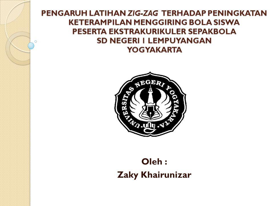 Oleh : Zaky Khairunizar