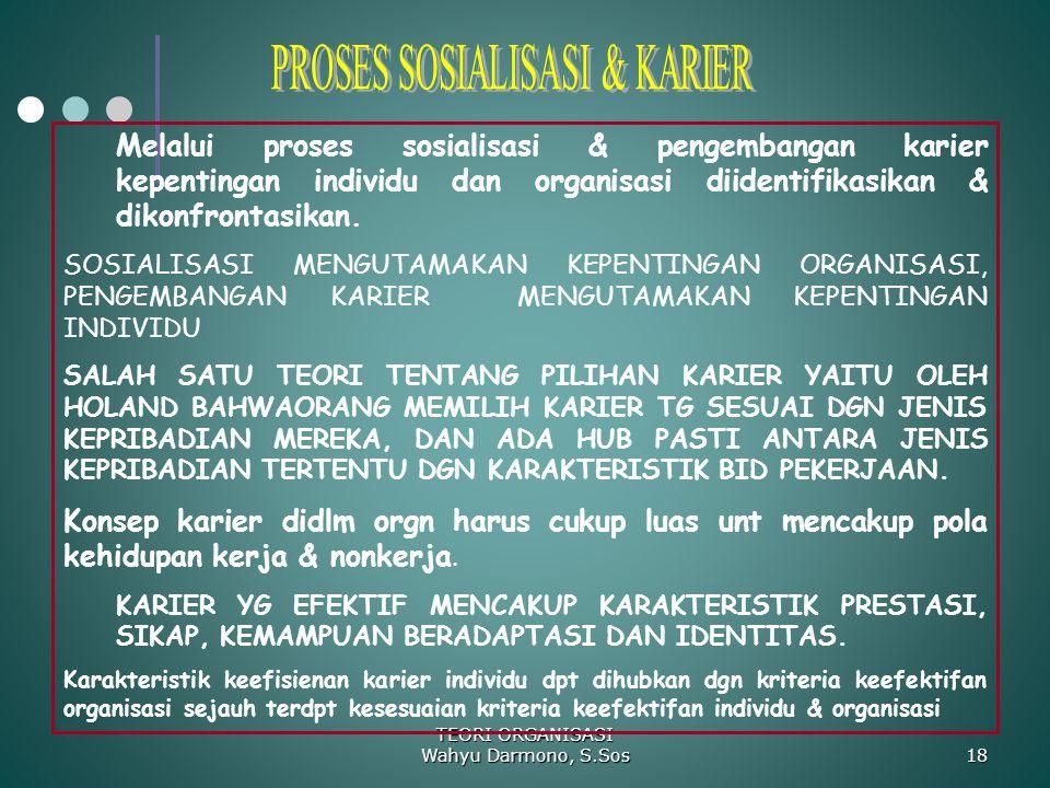 PROSES SOSIALISASI & KARIER