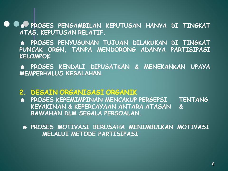DESAIN ORGANISASI ORGANIK