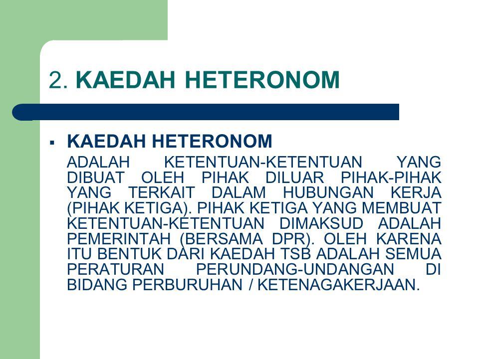 2. KAEDAH HETERONOM KAEDAH HETERONOM